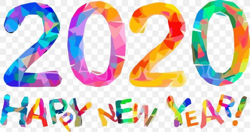 Happy New Year 2020 New Years 2020 2020, PNG, 3009x1595px, 2020, Happy New Year 2020, New Years 2020, Text Download Free