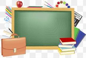 Rectangle Office Supplies - Blackboard Clip Art Office Supplies Rectangle PNG