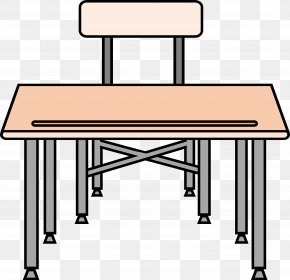 School Table Cliparts - Desk Table Student Clip Art PNG