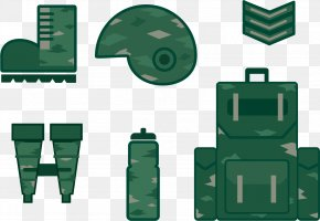 Green Military Equipment - Military Euclidean Vector Adobe Illustrator PNG