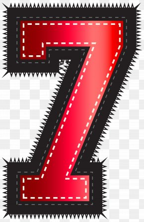 Red Sport Style Number Seven Clip Art Image - Clip Art PNG