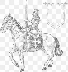 Vector Hand-painted Knight - King Arthur Uther Pendragon Middle Ages Knight Feudalism PNG