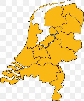 Map - Provinces Of The Netherlands Blank Map Clip Art PNG
