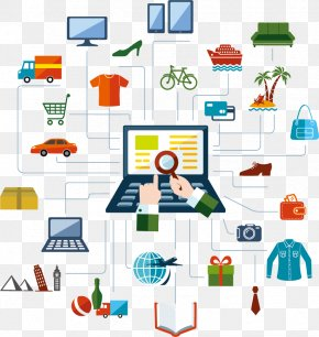 Vector Will Be Networking Online Shopping - Online Shopping PNG