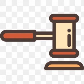 Hammer Icon - Judiciary Criminal Law Labour Law Public Administration PNG