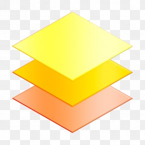 Triangle Yellow - Layers Icon Essential Icon Graphic Design Icon PNG