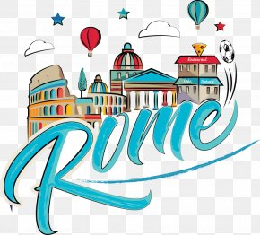 Drawing Comic World City Landmarks In Rome - Rome Cartoon Drawing PNG