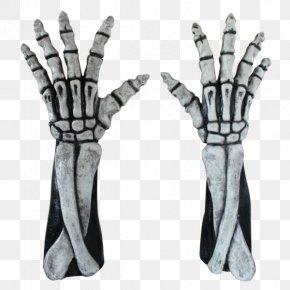 Skeleton - Glove Hand Arm Skeleton Costume PNG