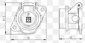 Technical Drawing - Paper Electrical Connector AC Power Plugs And Sockets Trailer Connector Technical Standard PNG