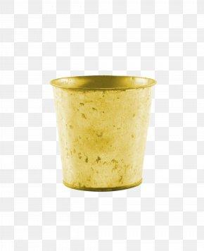 Trash Bucket - Yellow PNG