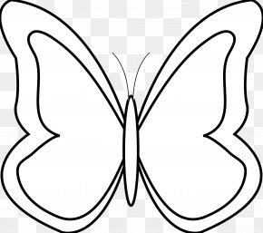 Black And White Car Clipart - Butterfly Black White Clip Art PNG
