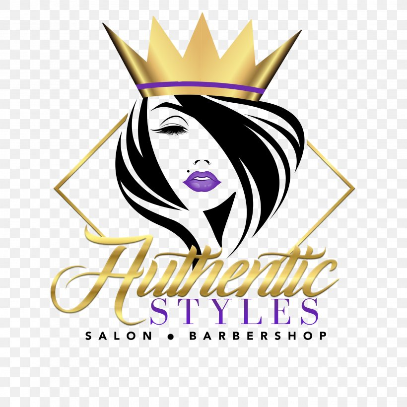 Authentic Styles Salon Barbershop Beauty Parlour Hair Logo Png 2700x2700px Barber Art Artwork Beauty Parlour