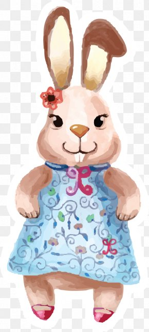 Cute Little Rabbit - Rabbit Euclidean Vector Cartoon PNG