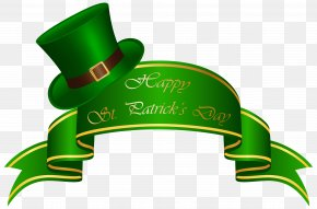 St Patricks Day Banner And Hat Transparent PNG Clip Art Image - Saint Patrick's Day Republic Of Ireland Studios At 78th Street, LLC. Clip Art PNG