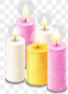 Color Candles - Valentines Day Love Candle PNG
