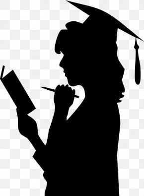 Woman - Graduation Ceremony Square Academic Cap Woman Clip Art PNG