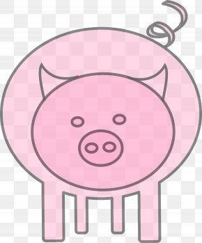 Happy Pig - Hampshire Pig Pig Roast Drawing Clip Art PNG