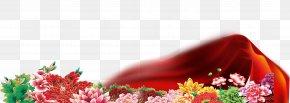 Red Ribbon Ribbon Flowers - Ribbon Computer File PNG