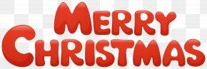 Red Merry Christmas Transparent Clip Art Image - Santa Claus Christmas Cartoon Illustration PNG