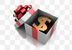 Gift Boxes Placed Inside The Dollar Sign - Gift Stock Photography Money Caixa Econxf4mica Federal PNG