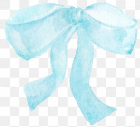 Light Blue Bow Chart - Blue Shoelace Knot Bow Tie PNG