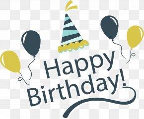 Vintage Happy Birthday Happy Card - Birthday Cake Wedding Invitation Greeting Card Clip Art PNG
