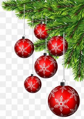 Christmas Balls Corner Decor Clip Art - Christmas Ornament Christmas Decoration Santa Claus Christmas Tree PNG