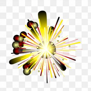 Geometric Color Shine Bright Fireworks - Graphic Design Fireworks PNG