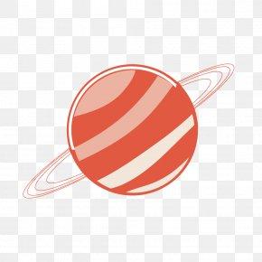 Orange Stripes Planet - Planet PNG