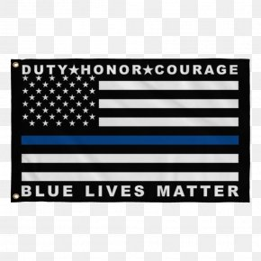 Honour - Thin Blue Line United States Police Officer Law Enforcement Blue Lives Matter PNG