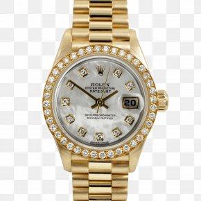 Rolex - Rolex Datejust Rolex Submariner Watch Colored Gold PNG