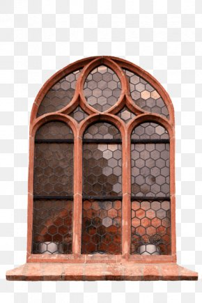 Old Objects - Window Arch Glass Picture Frames Door PNG