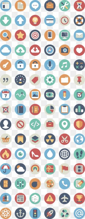 Phone APP Round Flat - Icon Design Flat Design Icon PNG