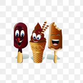 Ice Cream - Ice Cream Cone Chocolate Ice Cream Sundae PNG