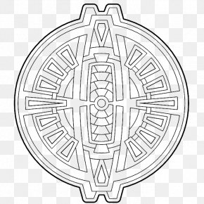 Geometric Shape - Coloring Book Drawing Mandala PNG