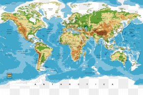 World Map - Nursery World Map Bedroom Wallpaper PNG