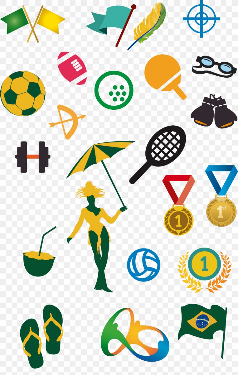 2016 Summer Olympics Olympic Equestrian Centre 2012 Summer Olympics Olympiad Euclidean Vector, PNG, 869x1367px, Olympiad, Area, Artwork, Brazil, Medal Download Free