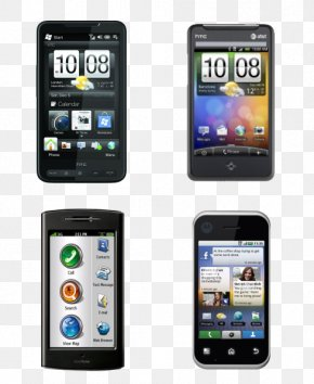 4 Smartphones - Smartphone Feature Phone Mobile Phone Icon PNG