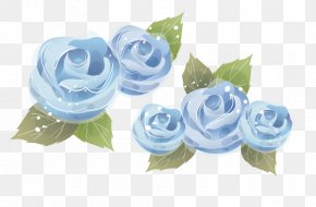 Vector Blue Rose - Borders And Frames Picture Frame Clip Art PNG