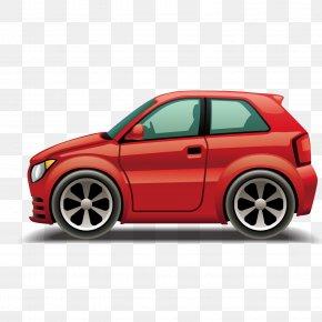 Vector Red Cartoon Car Super Sports Car - Car Bus Land Transport Clip Art PNG