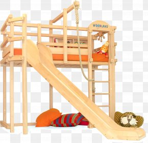 Bed - Loft Bunk Bed Bedroom Playground Slide PNG