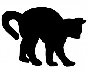 Dog Sillouette - Black Cat Towel Kitten T-shirt PNG