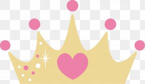 Yellow Cartoon Crown - Text Clip Art PNG