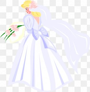 Old Lithuanian Wedding Gowns - Wedding Illustration Bride Drawing PNG