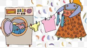 Dry Clothes Washing Machine - Washing Machine Laundry Clothing Clothes Dryer PNG