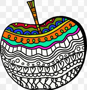 Apple - Apple Cider Apple Juice Coloring Book PNG