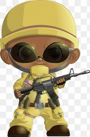 Vector Cute Cartoon Villain Military Soldiers - Soldier Military PNG