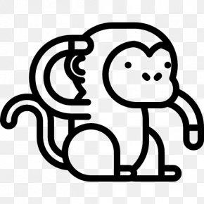 Monkey - Ape Animal Monkey Clip Art PNG