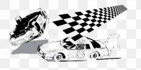 Vector Pattern Racing Flag - Auto Racing Racing Flags Black And White PNG