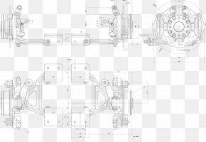 Front Suspension - Technical Drawing Car Diagram PNG